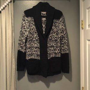 Gap Nvy Blue/White Chunky Knit Sweater Size L